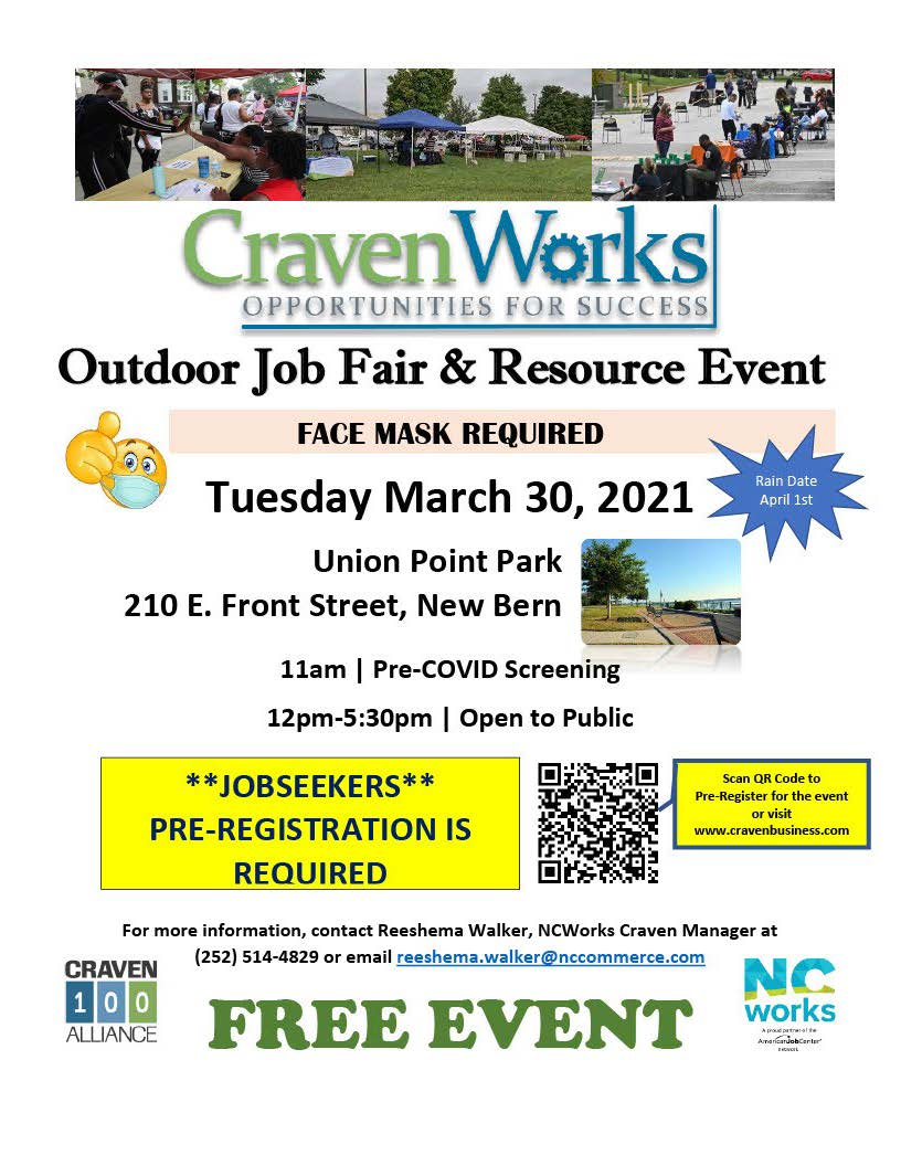 2021 Craven Works Outdoor Job Fair Flyer_QR Code
