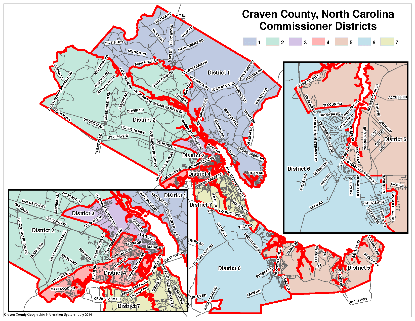 Craven County Commissioner Map