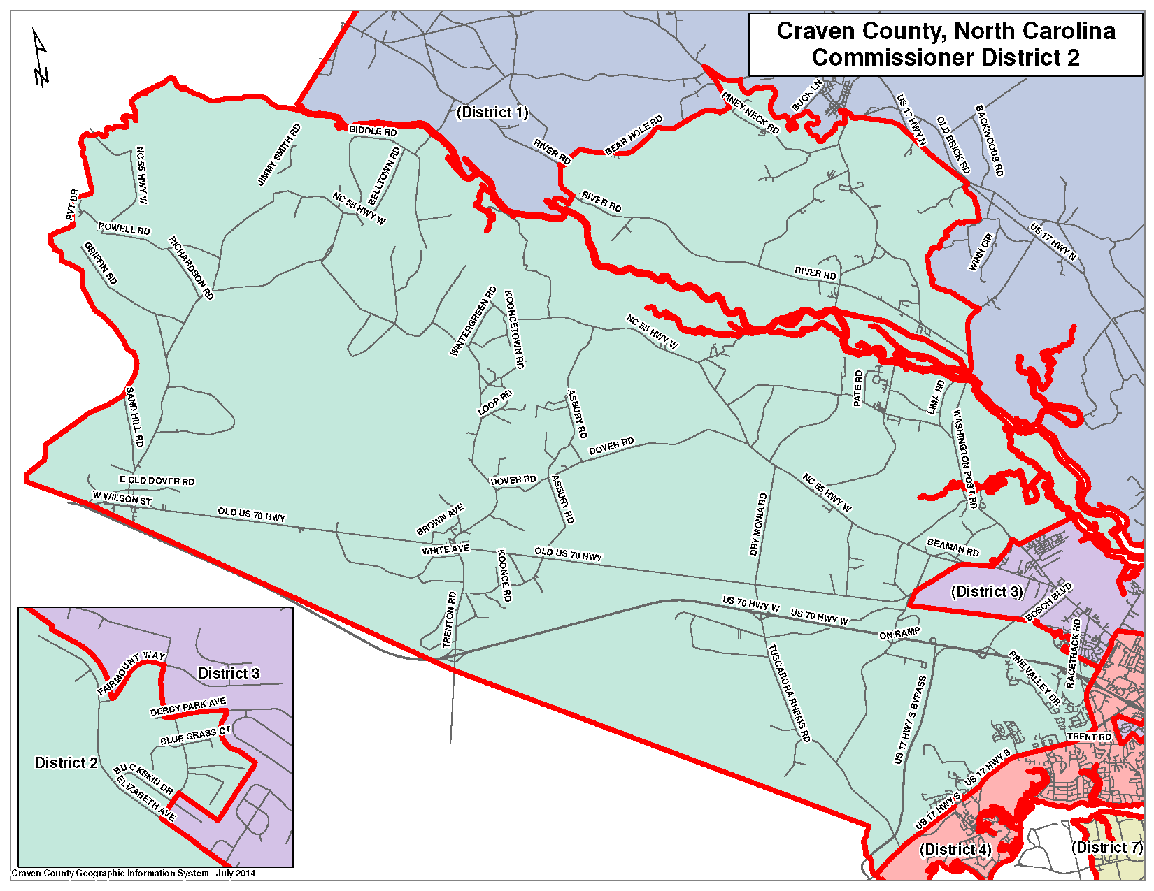 Commissioner District 2 Map