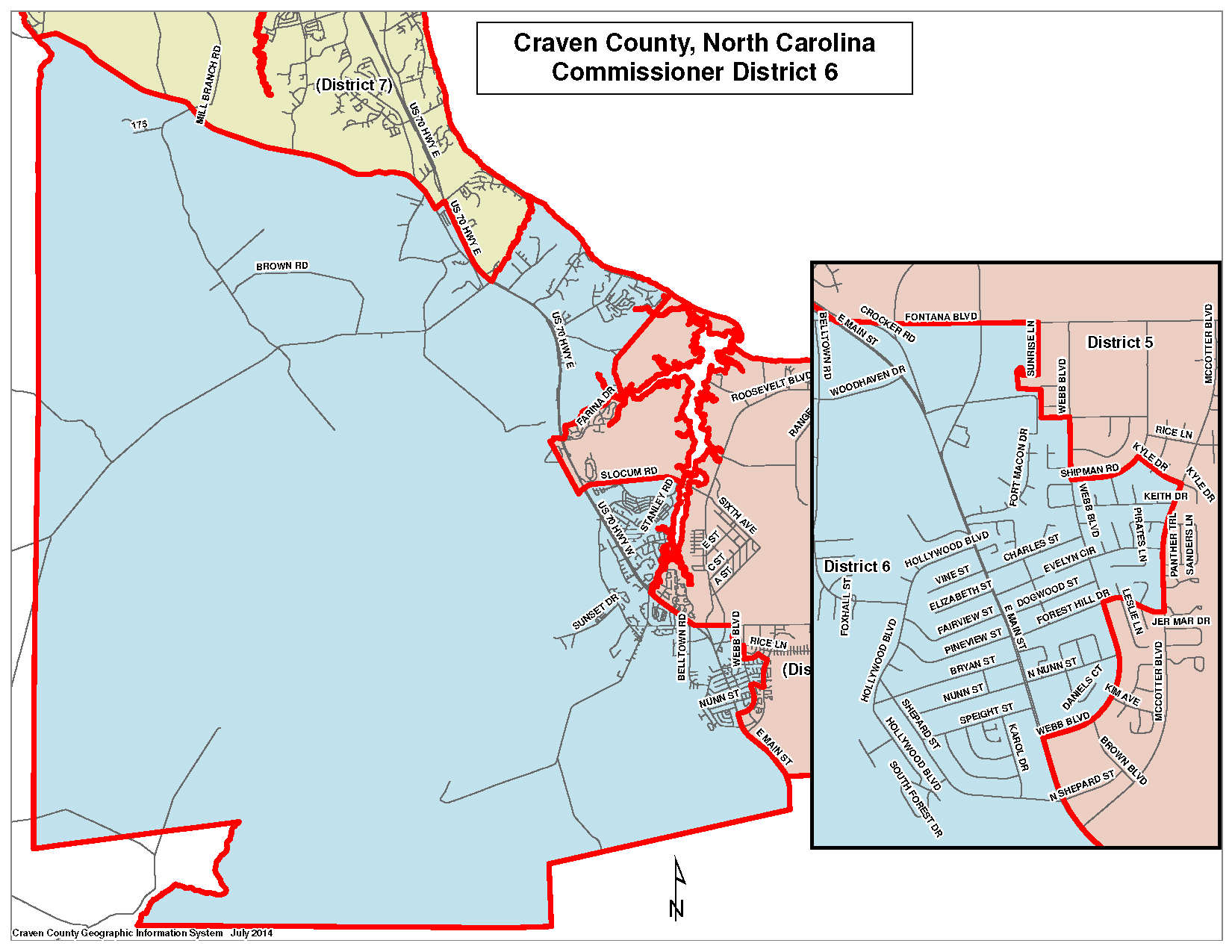 Commissioner District 6 Map